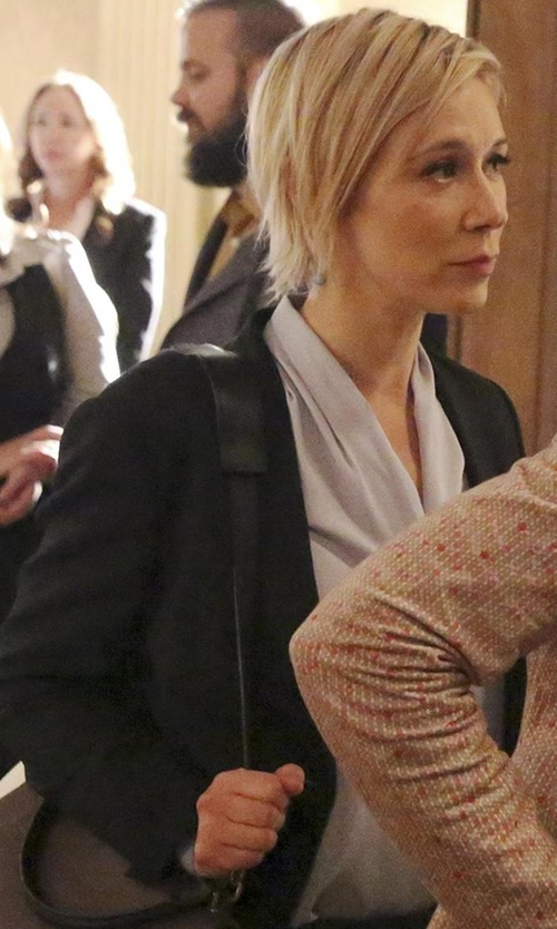 Liza Weil with Calvin Klein Zip-Pocket Open-Front Blazer in How To Get Away With Murder