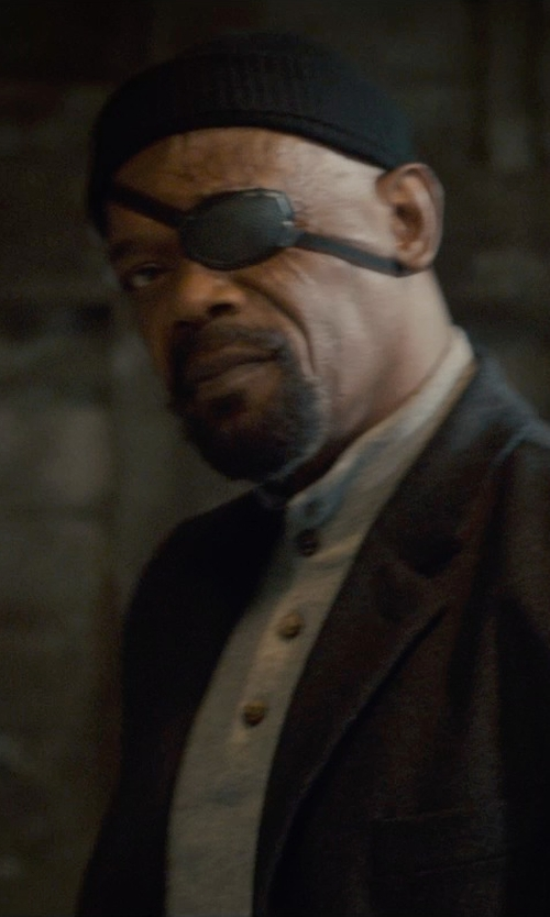 Samuel L. Jackson with Walmart Soft Convex-Shaped Eye Patch in Avengers: Age of Ultron