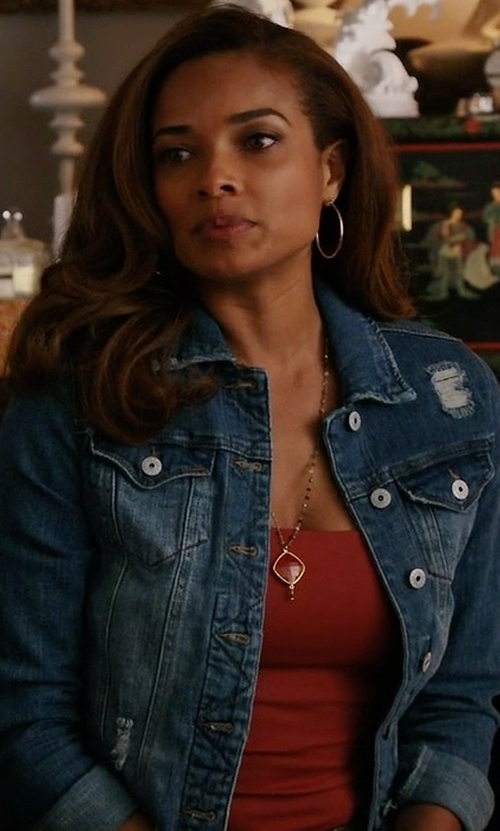 Rochelle Aytes with Proenza Schouler Jean Jacket in Mistresses
