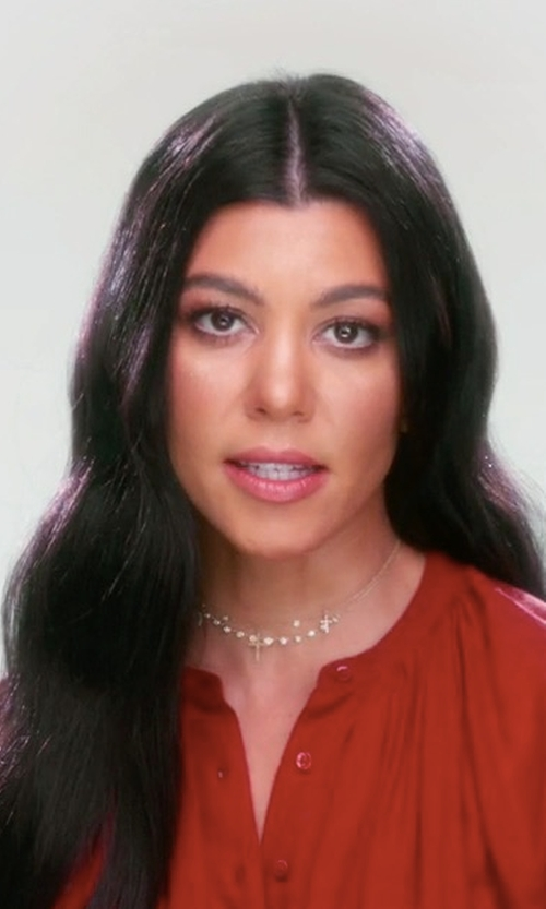 Kourtney Kardashian with Jacquie Aiche Triple Cross Choker in Keeping Up With The Kardashians