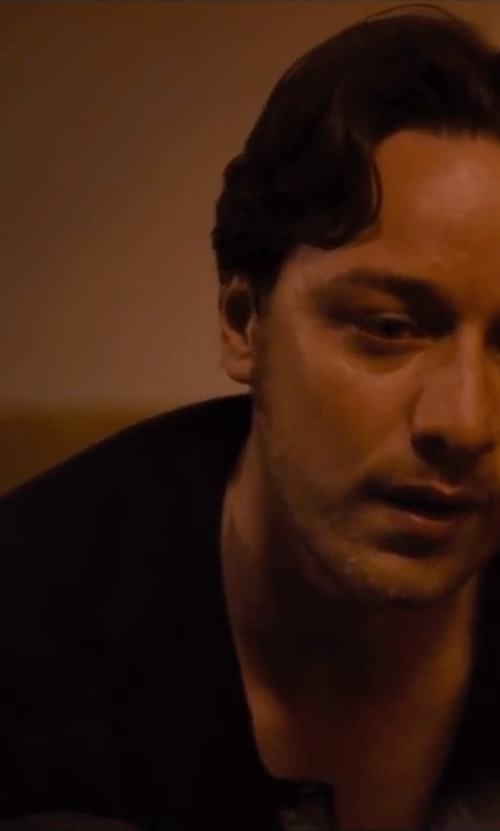 James McAvoy with Wings + Horns Base Henley Shirt in The Disappearance of Eleanor Rigby