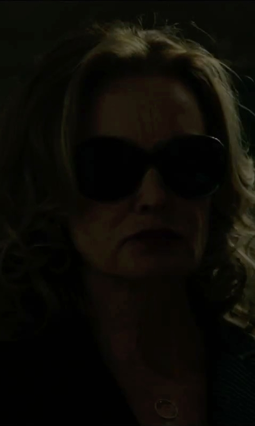 "Jessica Lange with Gorjana ""G"" Ring Long Necklace in The Gambler"