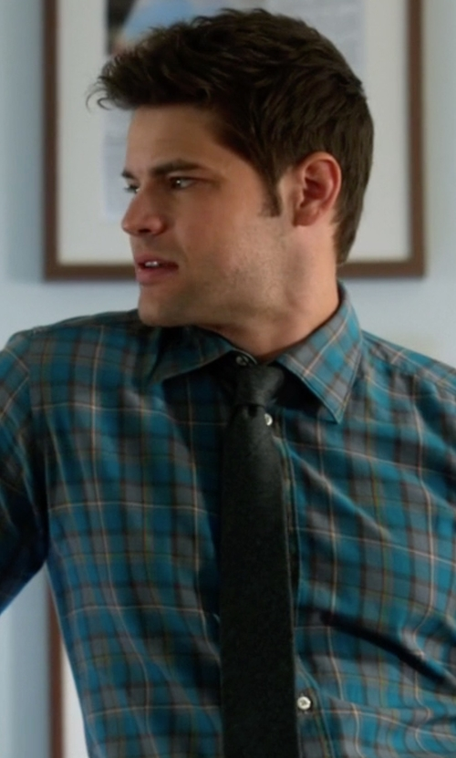Jeremy Jordan with Ted Baker Wool and Silk Tie in Supergirl