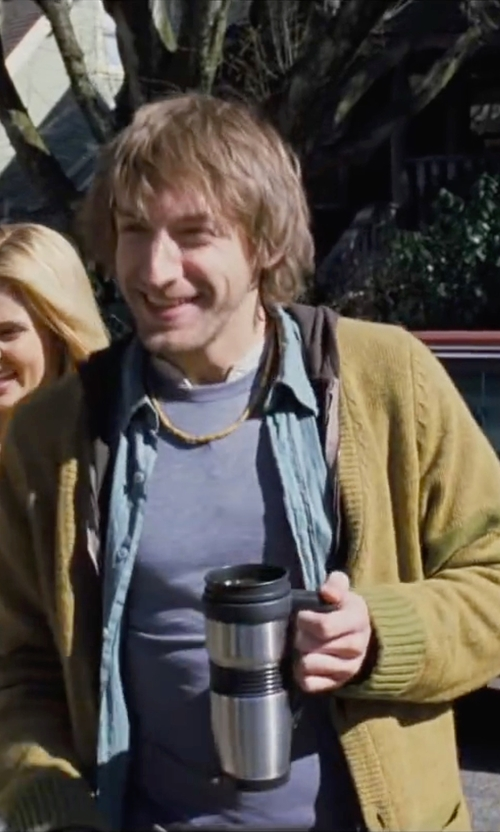 Fran Kranz with Original Penguin Heritage Slim Fit Shawl Collar Cardigan in Cabin in the Woods
