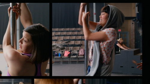 Hana Mae Lee with Nike THREE-D Heather Grey Vest in Pitch Perfect 2