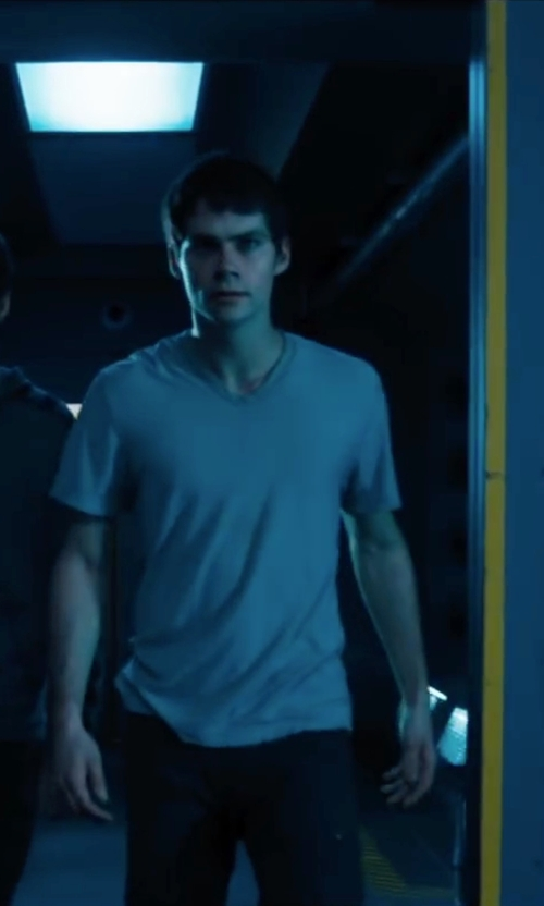Dylan O'Brien with Zanerobe Flintlock T-Shirt in Maze Runner: The Scorch Trials