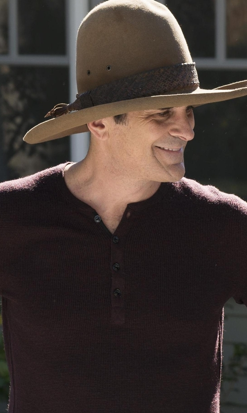 Ty Burrell with Silverado Coleman Wool Felt Hat in Modern Family
