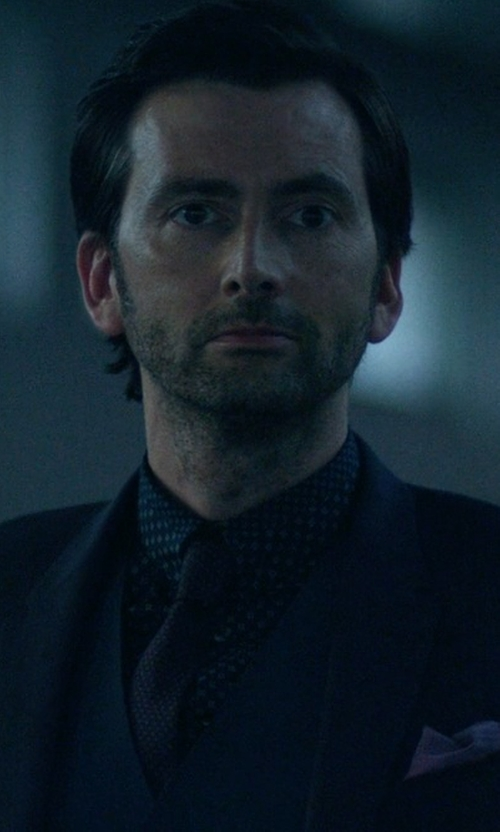 David Tennant with Brioni Woven Polka Dot Tie in Jessica Jones