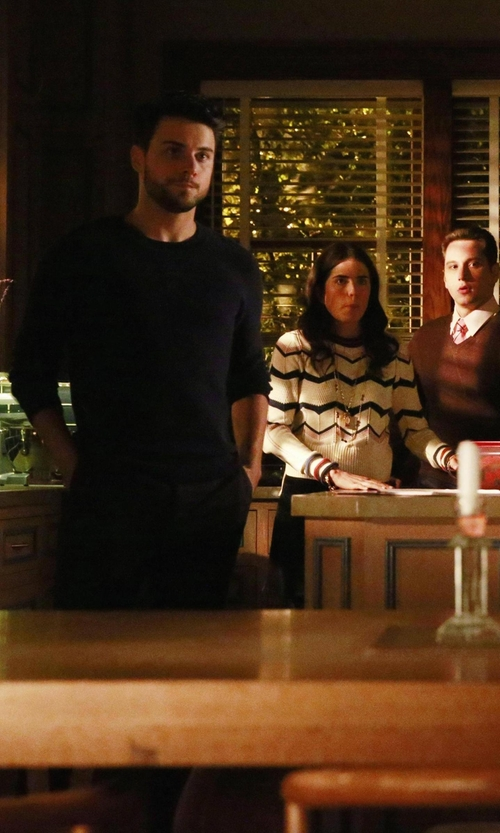 Jack Falahee with Laneus Crew Neck Sweater in How To Get Away With Murder