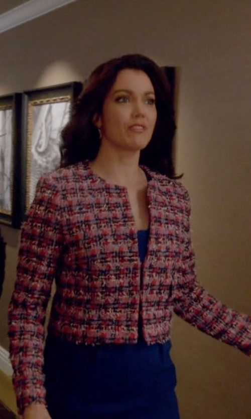 Bellamy Young with L.K.Bennett Echo Colour Tweed Jacket in Scandal