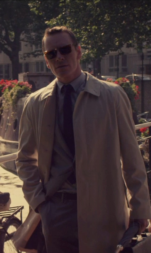 Michael Fassbender with Emporio Armani Single-Breasted in Chintzed Flannel Suit in The Counselor