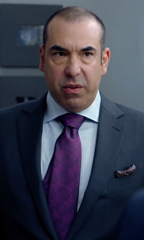 Rick Hoffman with Bruno Piatelli Men's Silk Pocket Square in Suits