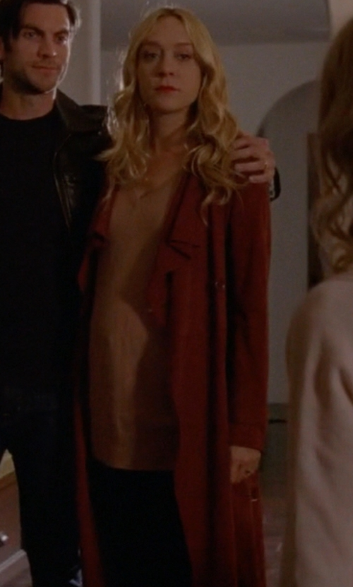Chloë Sevigny with Michael Kors Collection Long-Sleeve Drape-Front Cardigan in American Horror Story