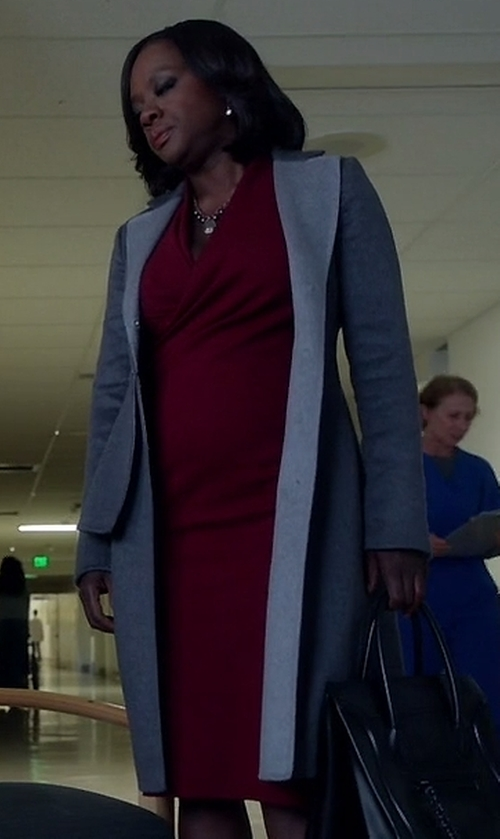 Viola Davis with Sportmax Medardo Coat in How To Get Away With Murder
