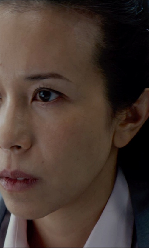 Karen Mok with Factory Cropped Suiting Blazer in Wool in Man of Tai Chi