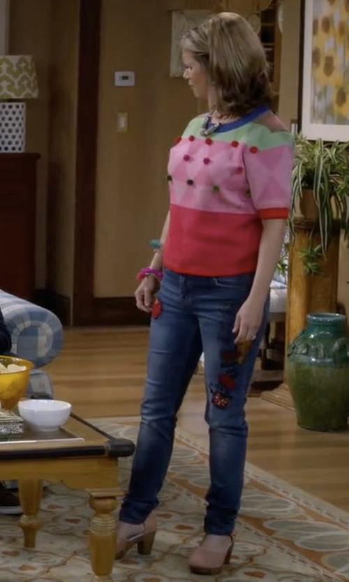 Andrea Barber with Michael Antonio Tylie Sandals in Fuller House