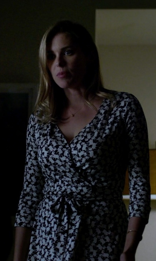 Susie Abromeit with Diane von Furstenberg New Julian Two Printed Wrap Dress in Jessica Jones