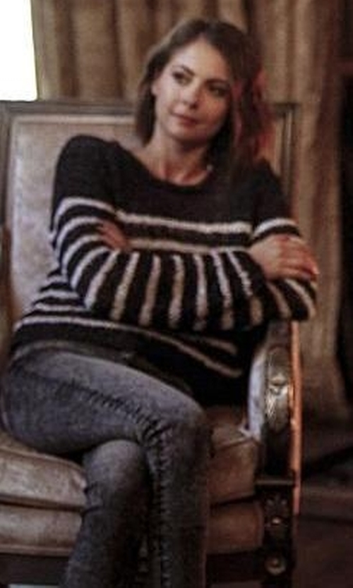 Willa Holland with T By Alexander Wang Striped Jumper Sweater in Arrow