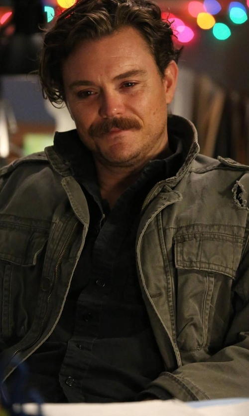 Clayne Crawford with Tom Ford Western-Style Tailored Denim Shirt in Lethal Weapon