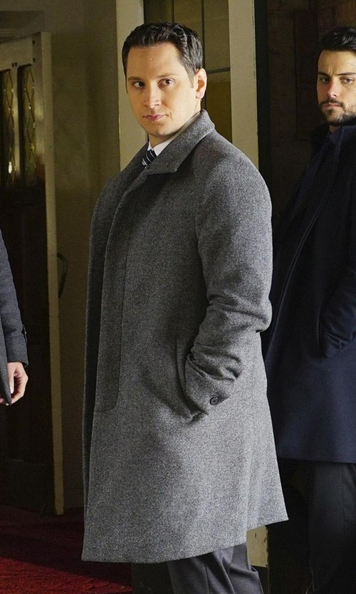 Matt McGorry with Zanerobe Melton Wool Coat in How To Get Away With Murder