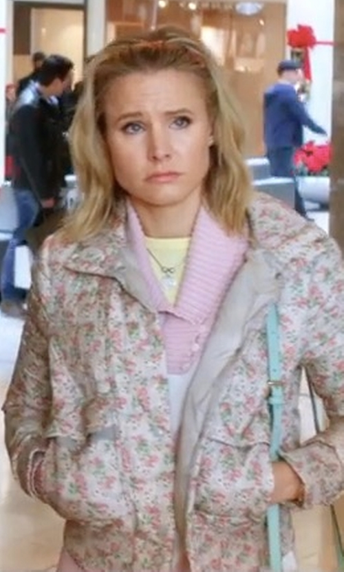 Kristen Bell with Cupcakes and Cashmere Anjelica Bomber Jacket in A Bad Moms Christmas