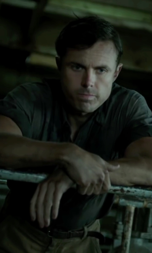 Casey Affleck with Towncraft Button Up Front Shirt in The Finest Hours