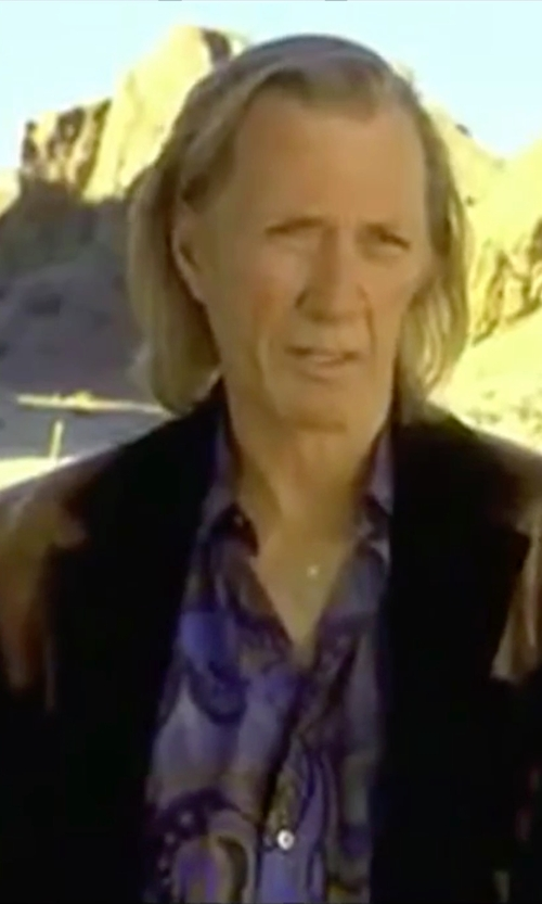 David Carradine with Cremieux Jeans Paisley Woven Shirt in Kill Bill: Vol. 2