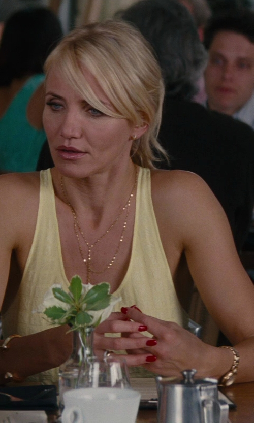 Cameron Diaz with Jennifer Fisher XL Double Nail Cuff Bracelet in The Other Woman