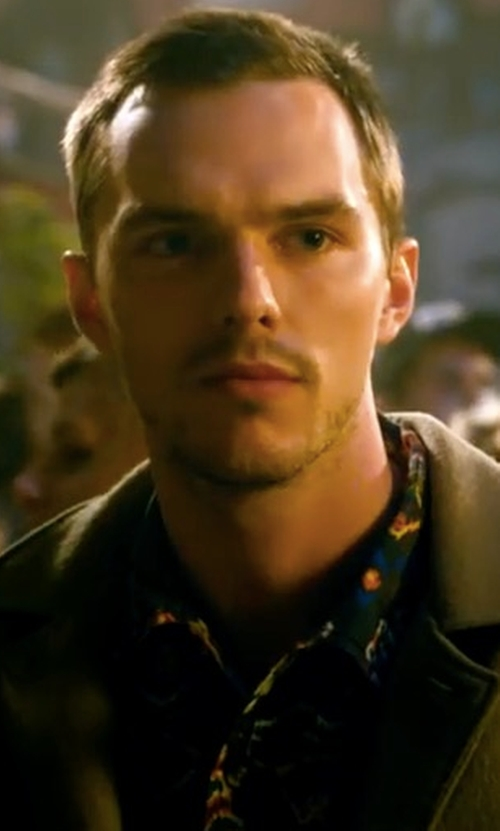 Nicholas Hoult with Deus Ex Machina Dean Resort Shirt in Collide