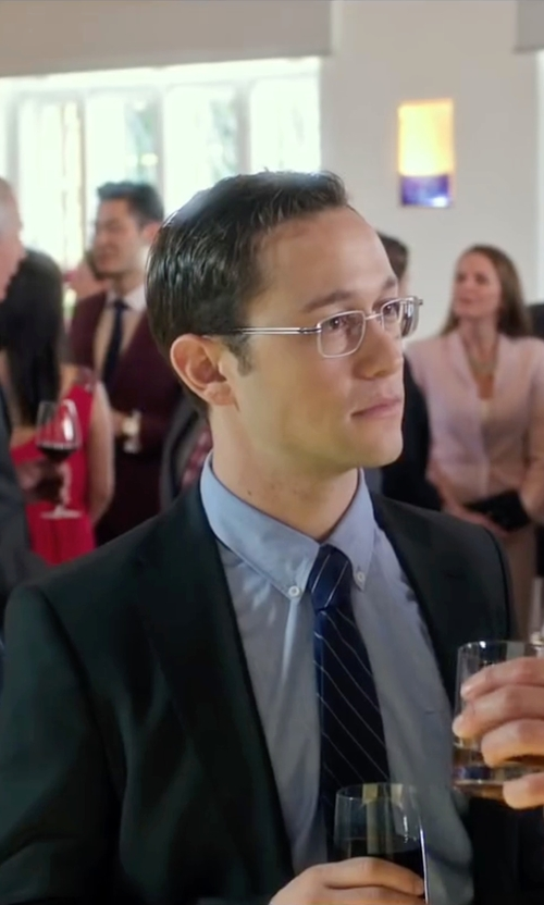 Joseph Gordon-Levitt with Lauren Ralph Lauren Striped Silk Tie in Snowden