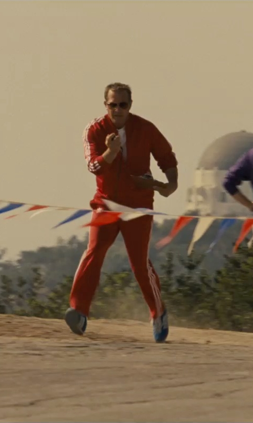 Kevin Costner with Adidas Superstar Track Pants in McFarland, USA