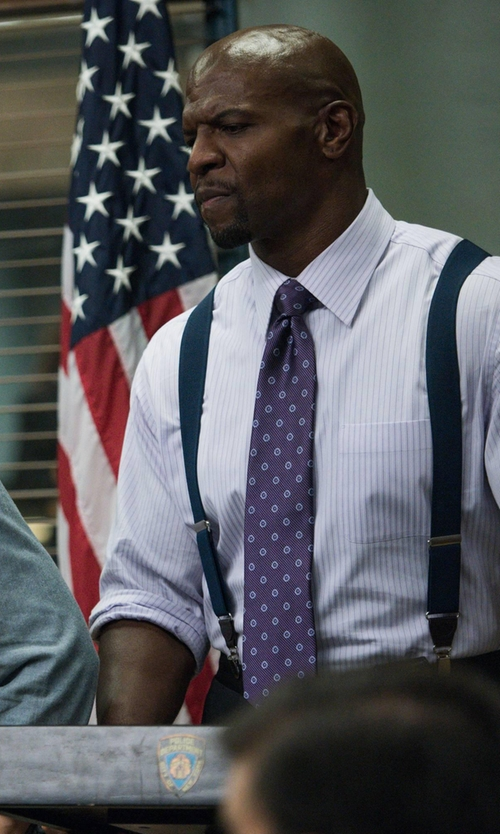 Terry Crews with Brooks Brothers Alternating Stripes Dress Shirt in Brooklyn Nine-Nine
