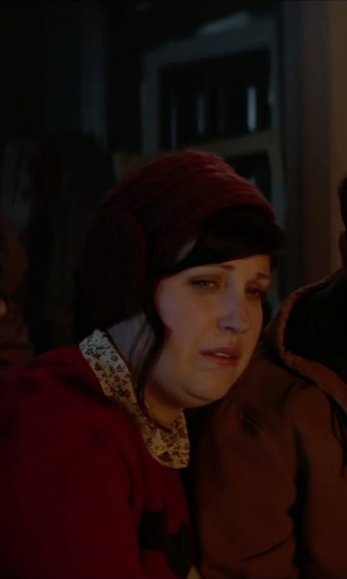 Allison Tolman with Forever 21 Fuzzy Bow Headwrap in Krampus