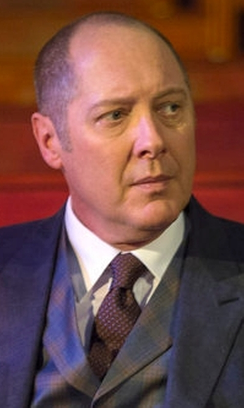 James Spader with Kiton Dot Printed Silk Tie in The Blacklist
