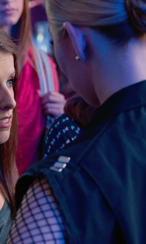Birgitte Hjort Sørensen with Leg Avenue  Lycra Industrial Fishnet Longsleeve T-Shirt in Pitch Perfect 2