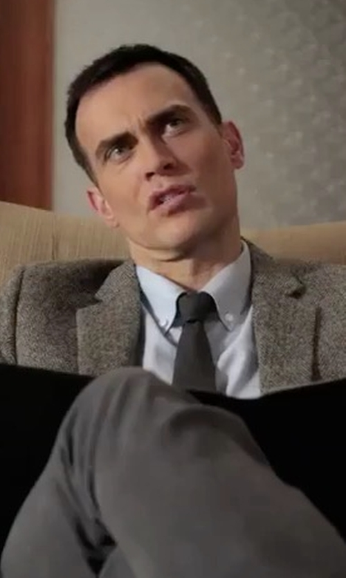 Cheyenne Jackson with Todd Snyder Sutton Unconstructed Sportcoat in American Horror Story