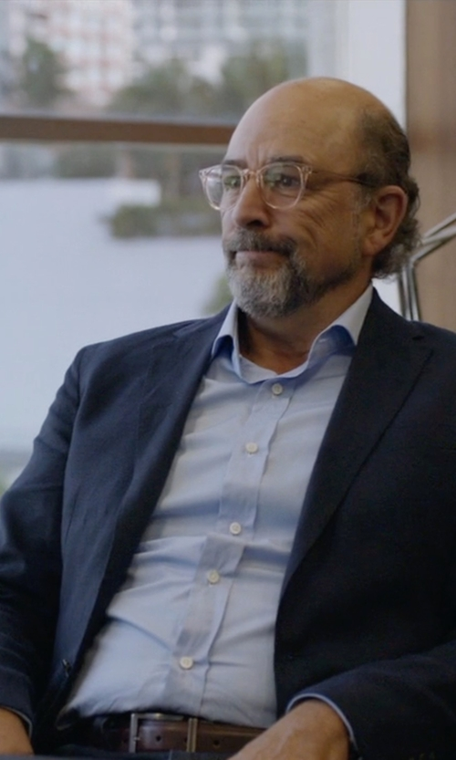 Richard Schiff with Barneys New York Stitched Edge Belt in Ballers