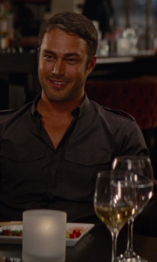 Taylor Kinney with Ralph Lauren Black Label Twill Military Shirt in The Other Woman