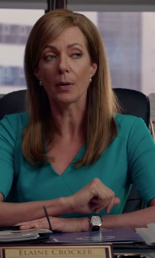 Allison Janney with Tory Burch Izzie Watch in Spy