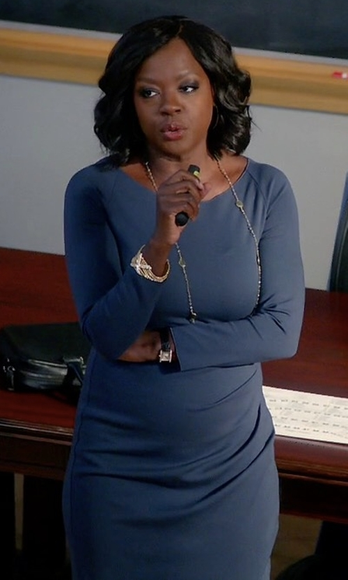 Viola Davis with Armani Collezioni Milano Jersey Ruched Dress in How To Get Away With Murder