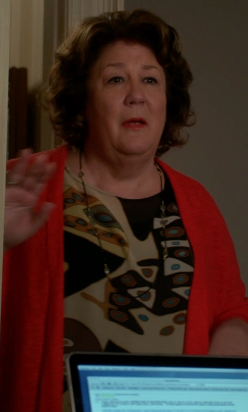 Margo Martindale with Axara Paris Animal Pattern Print Blouse in The Good Wife