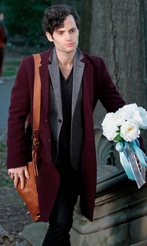 Penn Badgley with Barneys New York Large Messenger Bag in Gossip Girl