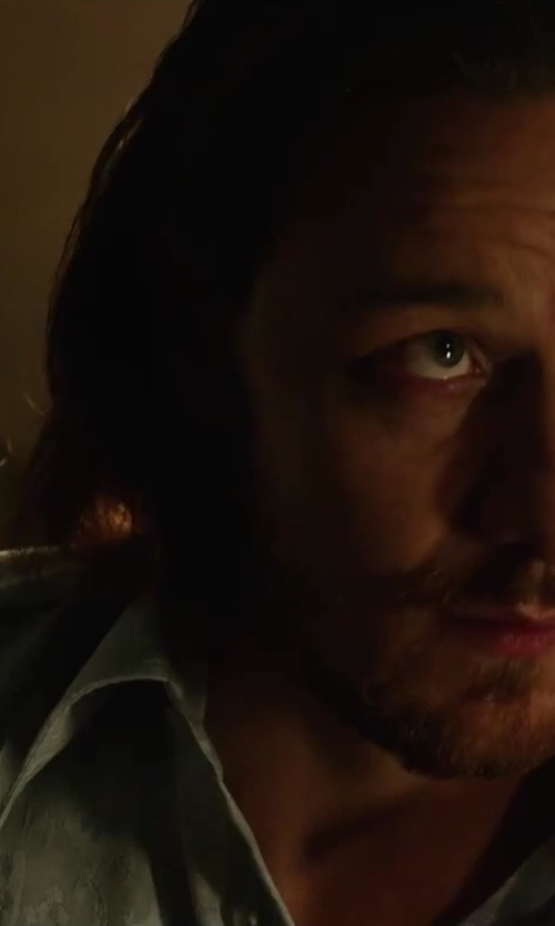 James McAvoy with Tommy Bahama Linen Windward Breezer Shirt in X-Men: Days of Future Past