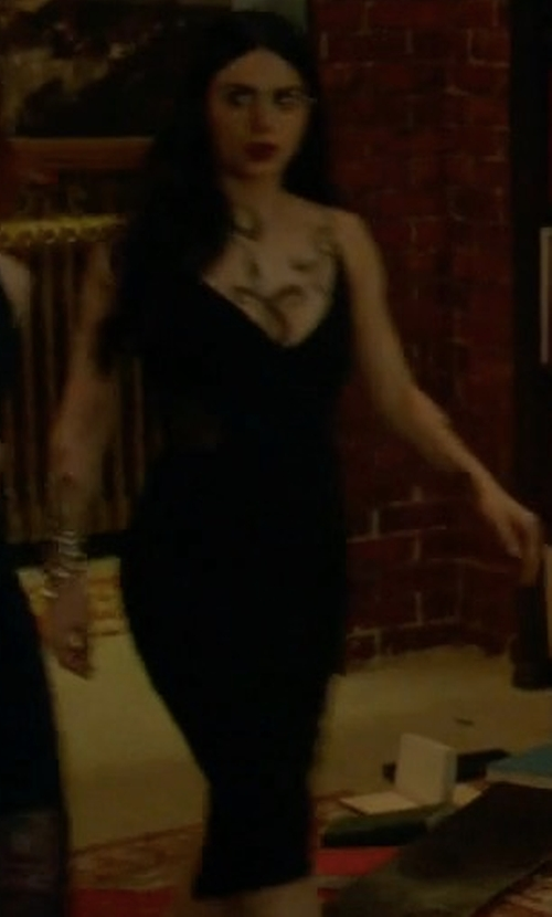 Emeraude Toubia with Nicholas Crepe Insert Dress in Shadowhunters