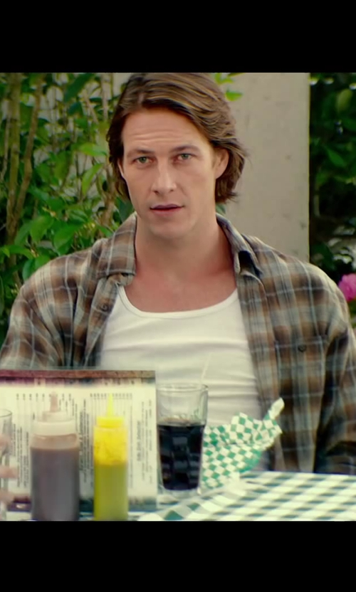 Luke Bracey with Powder River Outfitters Brushed Bandera Plaid Shirt in The Best of Me