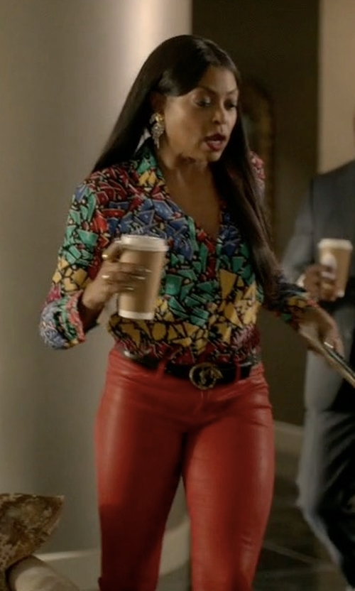 Taraji P. Henson with RtA Lucy Leather Pants in Empire