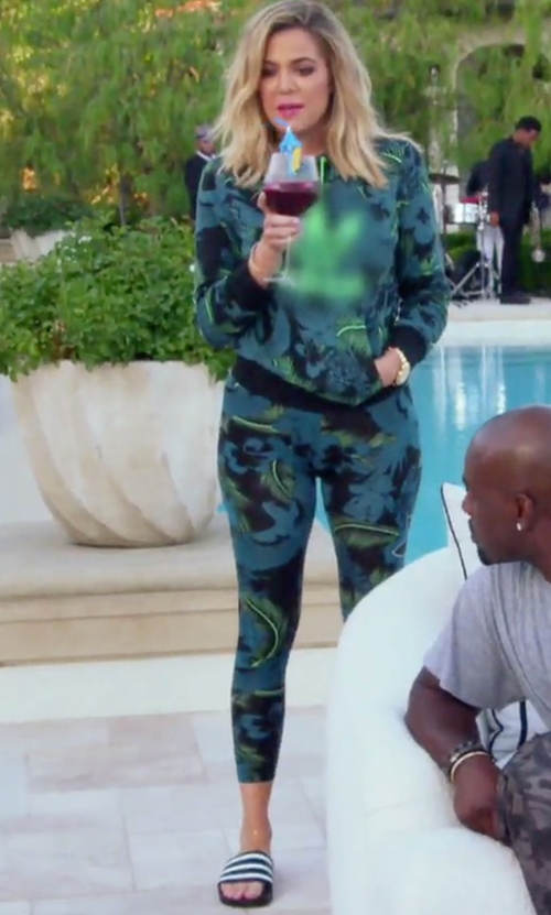 Khloe Kardashian with Adidas Adilette Slide Sandals in Keeping Up With The Kardashians