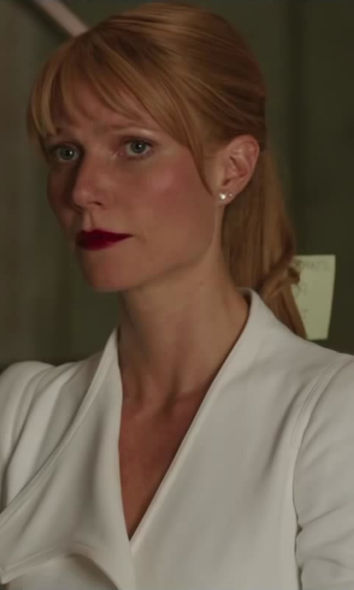 Gwyneth Paltrow with Alexander McQueen TAILORED BLAZER in Iron Man 3