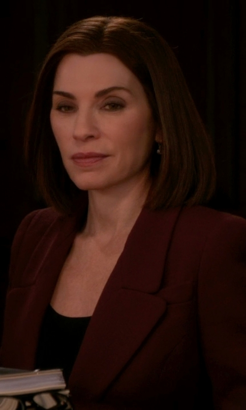 Julianna Margulies with Dorothee Schumacher Classic Fitted Blazer in The Good Wife