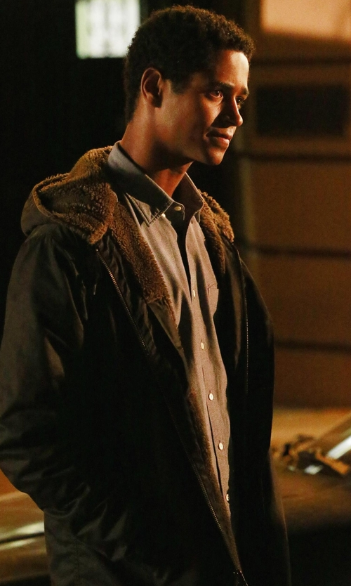 Alfred Enoch with Polo Ralph Lauren Oxford Dress Shirt in How To Get Away With Murder